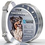 Dyeof Flohhalsband für Hunde – Schutz für 12 Monate – neue Version von Flohhalsband – langlebige Materialien – wasserdichtes Design – natürliches Anti-Flohhalsband