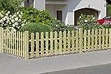 Gartenwelt Riegelsberger Premium Zaunlatte Typ A aus Kiefernholz imprägniert 16x90 mm Höhe 100 cm Oben abgerundet