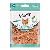 Dokas Cat Snack Ministeaks Lachs & Kabeljau | 10x 25g