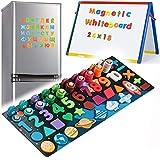 6 in 1 Holz Magnetisches Spiele mit Zahlen für Kinder Magnetisches Holz Steckpuzzle für Kinder Jungen Mädchen