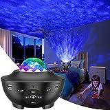 LED Sternenhimmel Projektor, Galaxy Light Sternenlicht Projektor mit 360°Drehen Ozeanwellen/Bluetooth Musikspieler/Fernbedienung/Timer Perfekt für Kinder Erwachsene Zimmer Deko,Party,Ostern