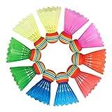 O-Kinee 10 pcs Bunt Badminton Federball,Regenbogen Federbälle Nylon High Speed Bunt Badminton Bälle, Mit Hoher Stabilität und Haltbarkeit,Für Indoor,Outdoor Sport, Training, Bewegung, Unterhaltung