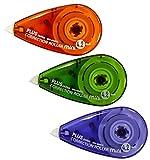 PLUS Japan, Korrekturroller Mini, 3er Packung, Farbenmix, 6m x 4.2