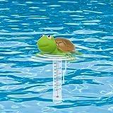 Soupliebe Lustig Poolthermometer Schwimmend, Cartoon Tier Pool Thermometer Wasserdicht, Schwimmbad Thermometer, Temperaturmessgerät Pool für Außen Innen Schwimmbad Spas Aquarien