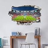 Wandaufkleber Fußball Wandtattoo Fussball Tapete FC Bayern München XXL Wandposter selbstklebend 120x70cm
