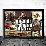 Aya611 Videospiel GTA 5 Grand Theft Auto Art Decor Bildqualität Leinwand Malerei Home Decor Poster Wohnzimmer Wanddekoration 60X90cmNoFrame 7