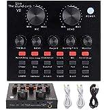Mini-Sound-Mischpult, Live-Soundkarte für Live-Streaming, Sprachwechsel, Soundkarte mit mehreren Soundeffekten, Audio-Mixer für Musikaufnahmen, Karaoke-Singen auf Handy und Computer