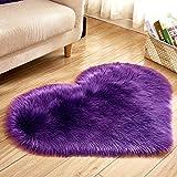 ZAZN Heimtextilien Plüschteppich, Geeignet Für Wohnzimmer Herzförmigen Teppich, Schlafzimmer Nachttisch Matte Boden rutschfest