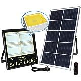 Solar Fluter Mit 5m Kabel, IP66 Wasserdichte solar strahler Sonnenschutzlichtbatterie Mit Ladungsanzeige 3,2 V-Batterie, 5V Sonnenkollektoren Kontinuierlich 12 Stunde(Size:60W,Color:Solar Wandleuchte)