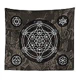 Mondgöttin Wolf Hexerei Tapisserie Wandhalterung Mittelalterliche Europäische Wahrsagerei Tapisserie Meditation Yoga Retro Hippie Tuch A4 180x200cm