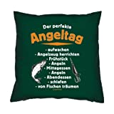 Kissen komplett mit Füllung, Dekokissen mit lustigen Motiv, Couchkissen - Der perfekte Angeltag...