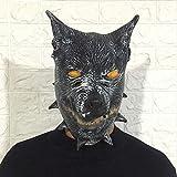 Yoshotech Niedliche Maske Kopfbedeckung Spaß Latex Kopfbedeckung Bar Leistung Requisiten Wolfsmaske
