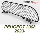ERGOTECH Trennnetz Trenngitter Hundegitter für PEUGEOT 2008 RDA65-XXS8, für Hunde und Gepäck. Sicher, komfortabel für Ihren Hund, garantiert!