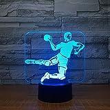 Handball 3d Led Lampe 7 Farbe Nachtlampen Für Kinder Touch Usb Tisch Lampara Lampe Baby Schlafen Nachtlicht Raumlampe