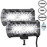 LED Zusatzscheinwerfer, FeelGlad 240W Auto Offroad arbeitsscheinwerfer, 240W| IP68| 80 LEDs| 26400LM| 6000K| IP68 Wasserdicht| 7 Zoll