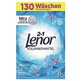 Lenor Waschmittel Pulver, Waschpulver Grosspackung, Vollwaschmittel, 130 Waschladungen, Lenor Aprilfrisch mit Duft von Frühlingsblumen (8.45 kg)