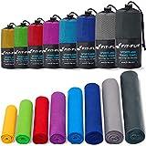 Fit-Flip Sporthandtuch, Reisehandtuch, Microfaser-Badetuch, XXL Strandhandtuch, Sauna Microfaser Handtuch groß (70x140cm dunkelblau)