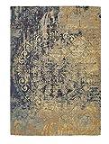 Luxor Living Vintageteppich Barock, Designerteppich, hochwertig, robust, pflegeleicht, Farbe:Beige-Blau, Größe:120 x 170