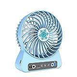 DSJGVN Leise Miniventilator USB Lüfter - Tischventilator - Geräuscharm, Abnehmbar Und Waschbar, Für Büro- Und Familienreisen, Turbo-Ventilator, Tragbarer Mini Ventilator(Blau)