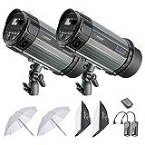 Neewer 600W Studio Strobe Blitz Fotografie Beleuchtung Kit: (2) 300W Monolicht, (2) Softbox, (1) RT-16 Funkauslöser, (2) 33 Zoll Studioschirm für Video Portrait Ort Aufnahmen (N-300W)