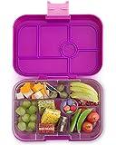 Yumbox Original M Lunchbox (Bijoux Purple, 6 Fächer) - mittelgroß   Brotdose mit Trennwand Einsatz   Bento Box für Kindergarten Kinder, Schule