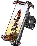 FLOVEME Motorrad Handyhalterung Fahrrad Handyhalter - Hüllenfreundlich Handy Halterung Fahrradlenker, Universal 360 Drehung Fahrradhalterung für 4,7 bis 7 Zoll Smartphone R