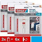 tesa Verstellbarer Klebenagel für Tapeten und Putz 2 kg im 3er Pack - Höhenverstellbarer, selbstklebender Wandnagel - Bis zu 2kg Halteleistung pro Nagel - 3 x 2 Klebenägel