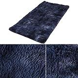 SDFCZ Grauer Teppich mit Batikfärbung, weiche Teppiche für Wohnzimmer, Schlafzimmer, rutschfeste Bodenmatten für Schlafzimmer, Wasseraufnahme, Teppich für Z