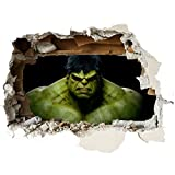 Hulk Smash Kinder-Lieblings-Charaktere 70cm Wandtattoo, Vinyl, Motiv: Wandkunst, Customise4UTM (Hulk Smash 70cm)