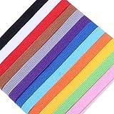Vokmon 12 Farben-Welpen ID Halsbänder Whelping Dog Band Newborn-weiche Gewebe Adjustable Identification Collar