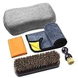 Reinigungs- und Pflegeset für Leder, Pflege und Schutz für Autoinnenraum, Sitzreinigung, Möbel, Kleidung, Schuhe, Taschen, Autositz-Reinigungsbürsten, 5-teilig