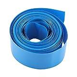 Korrosionsschutz-PVC-Schrumpfschlauch, 5 m blau, staubdicht, stabil, weiche Batterieschutzhülle, für Batteriepack 18650 18500 B
