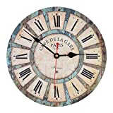 Wanduhr Vintage, iTECHOR 12-Zoll(30cm) Lautlos Vintage Wanduhr Uhr Uhren Wall Clock ohne Tickgeräusche