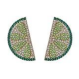 YHQKJ Süße Obst Drop Ohrringe Aussage Bunte Glänzende Kristall Baumeln Ohrringe Sommer Urlaub Schmuck Für Frauen (Color : Green)