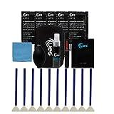 UES DKL24 DSLR-Kamera-Reinigungsset: Vollformat-Sensorreinigung Pinsel, Linsen- und Sensor Reiniger, Luftgebläse, Mikrofaser Reinigungstuch, Reinigungsstift zur Objektiv, Linsengeweb