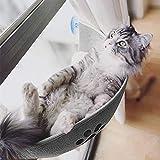 Blusea Grau Katzenbett Fenster, Sonnenbad Fensterplätze mit Katzendecke Flauschig Weich Waschbar und 3 Starken Saugnäpfe für die Fensterbank Geeignet für Katzen, Klein Hund,