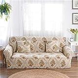 Bureze 3-Sitzer-Sofabezug für Stühle, Strick, Schonbezug, elastisch, für Sofa-Möbel, für Sessel