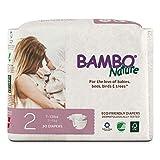 Bambo Nature Umweltfreundliche Premium-Windeln für empfindliche Haut, Größe 2, 3-6 kg, 30 Stück