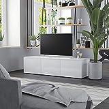 TV-Schrank Hochglanz-Weiß 120 x 34 x 30 cm Spanplatte
