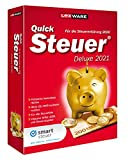 Lexware QuickSteuer Deluxe 2021 für das Steuerjahr 2020|Minibox|Einfache und schnelle Steuer-Software für die private und gewerbliche Steuererklärung|Deluxe|1|1 Jahr|PC|Disc