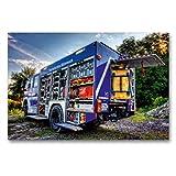 CALVENDO Premium Textil-Leinwand 90 x 60 cm Quer-Format GKW THW Braunschweig, Leinwanddruck von Markus Will