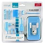 Speedlink Zubehör für Nintendo Handheld (Tasche/Kopfhörer/Ladekabel Steckdose und KFZ/Touchpen/Spielhülle/Mikrofasertuch/Trageriemen) hellblau