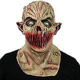 GL-GDD Gruselige Gruselige Halloween-Maske, Vampir-Maske Monstermaske Teufelsmaske Zombie Cosplay Kostüm Party Latex Vollkopfmaske Für Festival Party,Dark Color