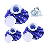 GLAITC Ice Bags,3pcs Kühlbeutel & Wärmflasche Set Reusable Cooling Compress Cool Pack First Aid Ice Packs Hot & Cold Ice Bags for Sports Injury Pain Relief and Reduce Swelling