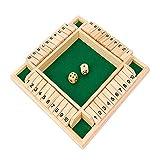 ND Shut The Box Würfelspiel aus Holz, für 4 Spieler, Pub, Brettspiele, Nummer Trinkbrett, klassisches Würfelbrett, Spielzeug, Familie, traditionelles Mathematik-Strategie, Tischbrettspiel (grün)