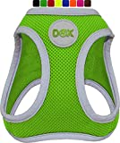 DDOXX Brustgeschirr Air Mesh, Step-In, reflektierend   viele Farben   für kleine, mittlere & mittelgroße Hunde   Hunde-Geschirr Hund Katze Welpe   Katzen-Geschirr Welpen-Geschirr   Grün, XS