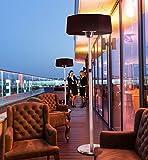 MyMaxxi | Infrarot Heizstrahler für Terrasse 2100W elektrisch stehend | Outdoor stand heater | Terrassenstrahler mit Fernbedienung für Draussen | höhenverstellbar und 3 H