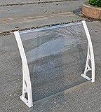 SHJMANPA Tiefe 80 cm Außenterrasse Veranda Polycarbonat-Blatt Sonnenschutz Überdachung, Fenster-Markisen-Abdeckung Schneeregen-UV-Schutz, Belastung 100 Kg, Transparent Board, 150X80CM
