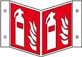 LEMAX® Brandschutz-Nasenschild Feuerlöscher,ASR/ISO, Kunststoff, 200x200mm
