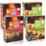GRILLBOX Wein Mischpaket 2x Rotwein und 2x Weisswein, Bag-in-Box (4x3,0l)